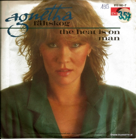 Agnetha Fältskog ‎– The Heat Is On  1983 Single