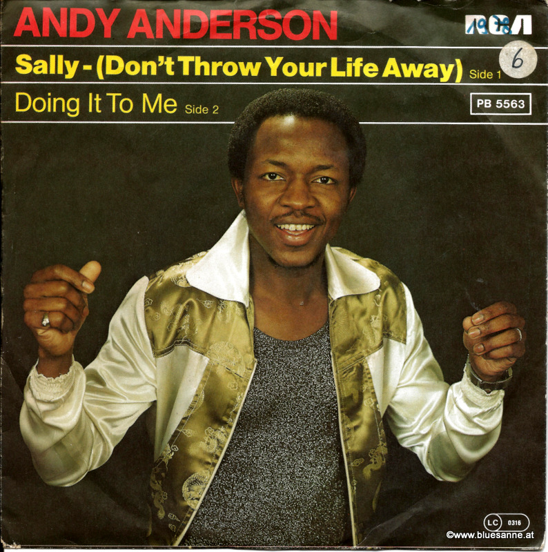 Andy Anderson ‎– Sally- (Dont Throw Your Life Away) 1978