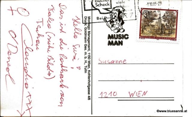 Falco Ansichtskarte 03.10.1985