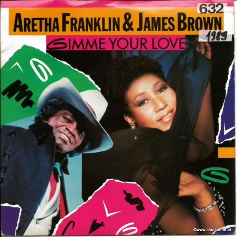Aretha Franklin & James Brown ‎– Gimme Your Love 1989 Single