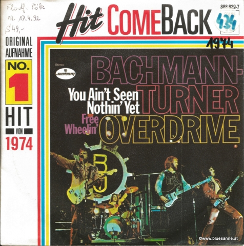 Bachmann-Turner Overdrive ‎– You Ain;t Seen Nothin´ Yet 1987/1974