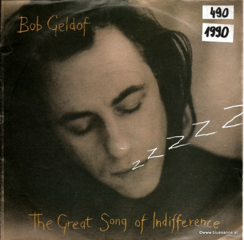 Bob Geldof ‎– The Great Song Of Indifference 1990 Single