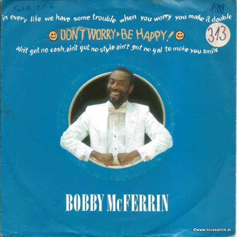 Bobby McFerrin ‎– Dont Worry Be Happy! 1988 Single