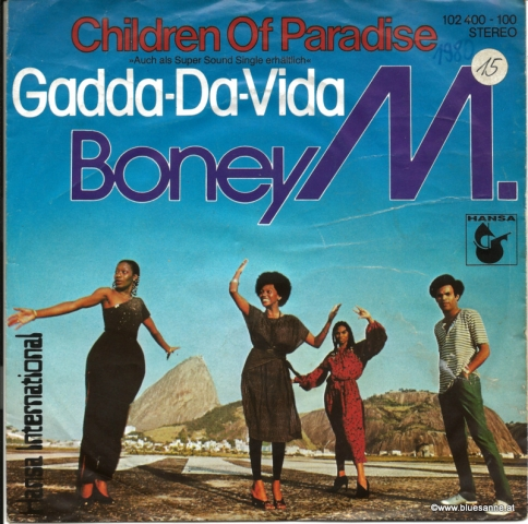 Boney M. ‎– Children Of Paradise  Gadda-Da-Vida 1980 Single