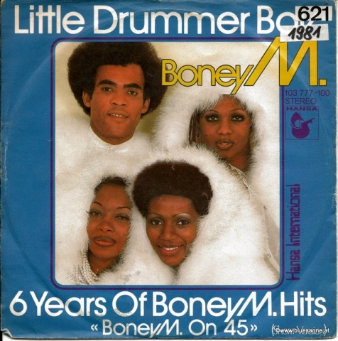 Boney M. ‎– Little Drummer Boy 1981 Single
