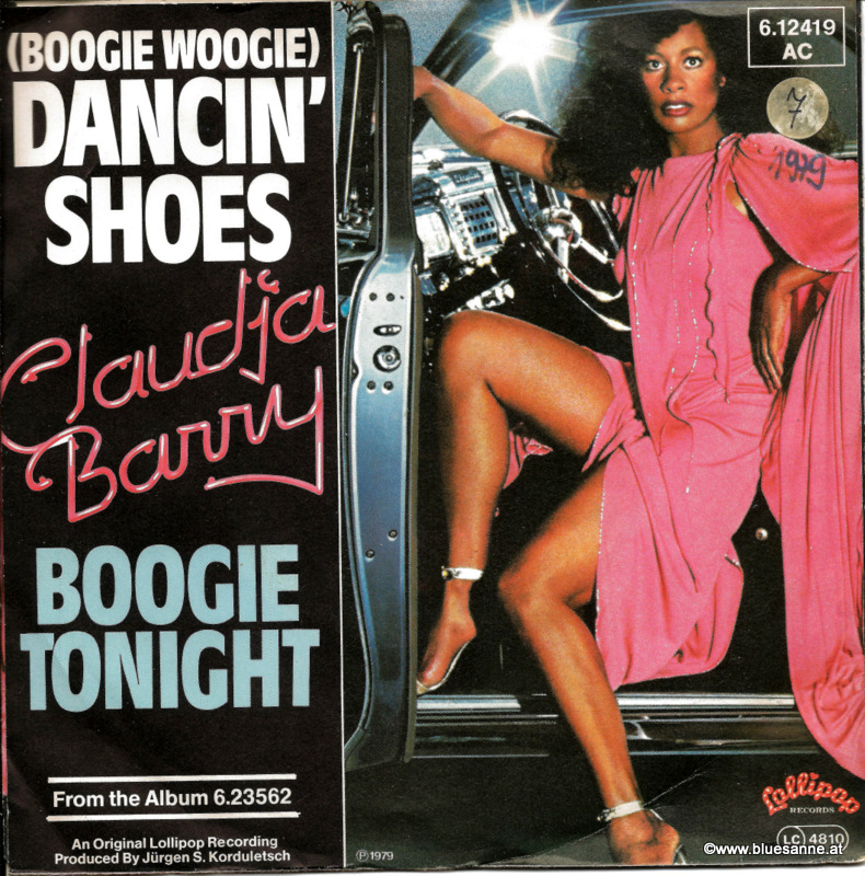 Claudja Barry Boogie Woogie Dancin shoes 1979 Single