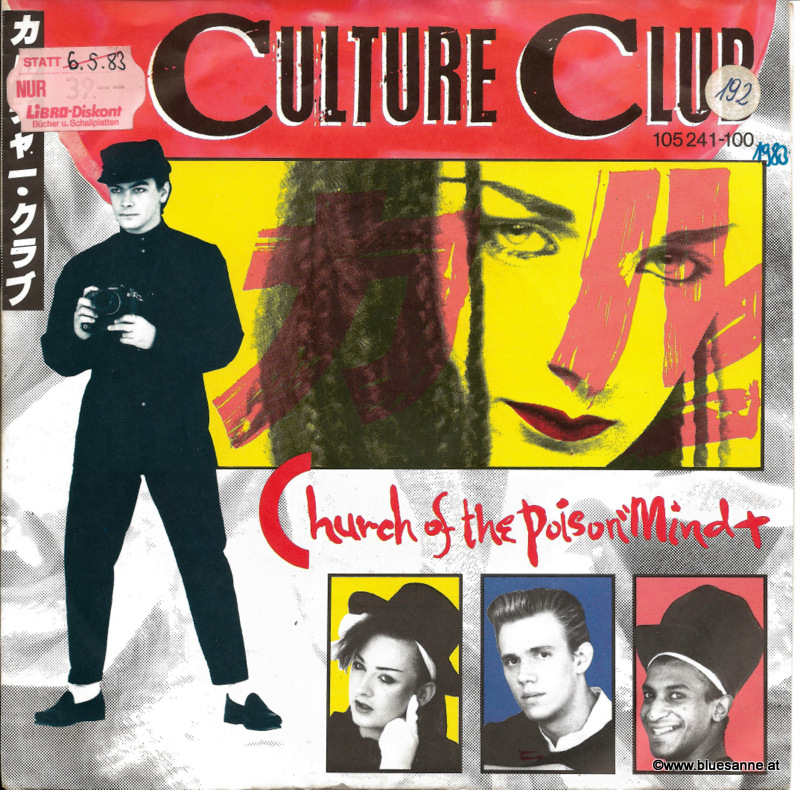 Culture Club Church of the poison mind 1983 Single