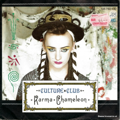 Culture Club Karma Chameleon 1983 Single