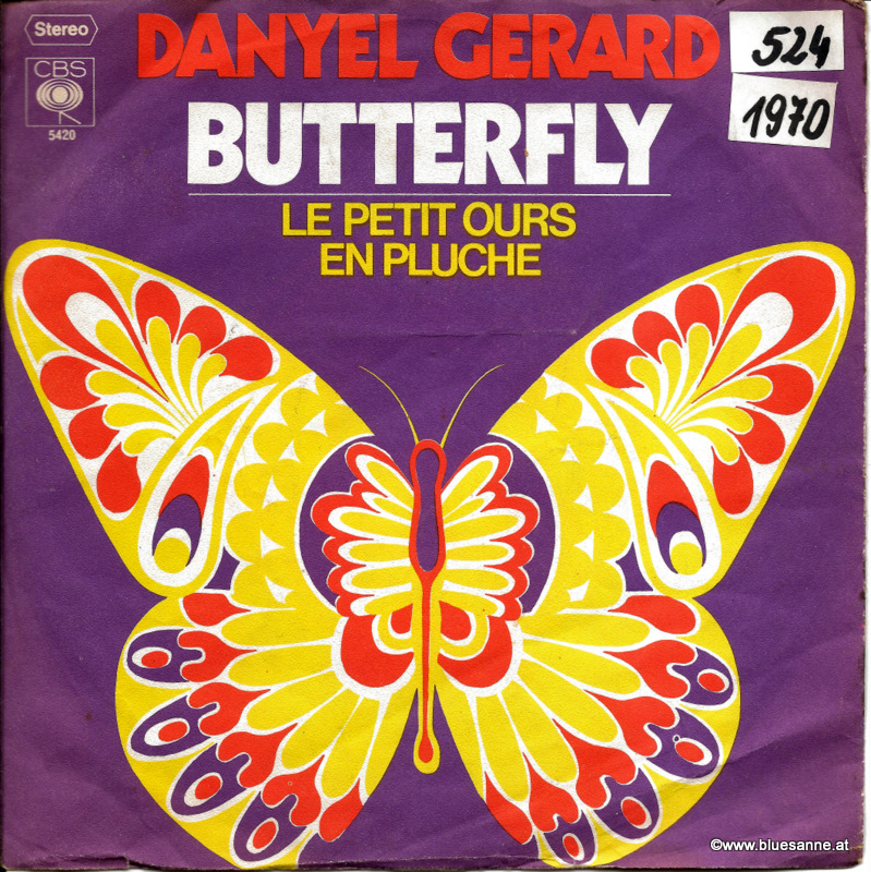 Danyel Gerard Butterfly 1970 Single