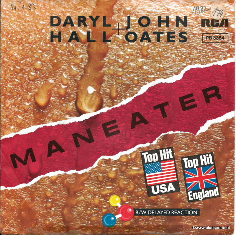 Daryl Hall + John Oates Maneater 1982 Single
