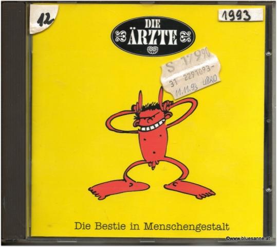 Die Ärzte Die Bestie in Menschengestalt 1993 CD