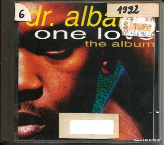 Dr. Alban ‎– One Love 1992 CD