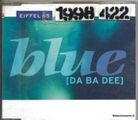 Eiffel 65 Blue 1998 CD-Single