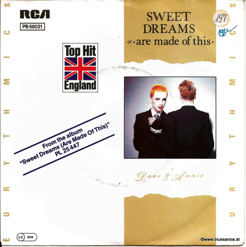 Euriythmics - Sweet Dreams 1982 Single