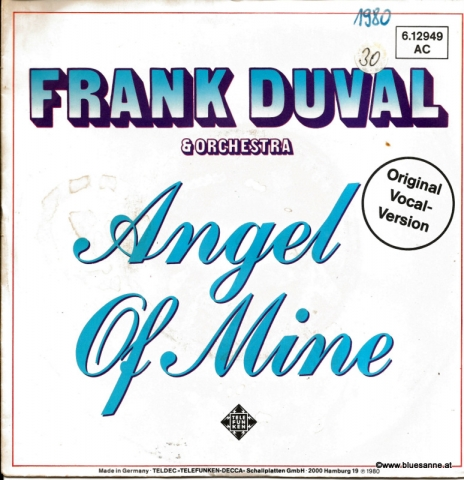 Frank Duval & Orchestra ‎– Angel Of Mine 1980