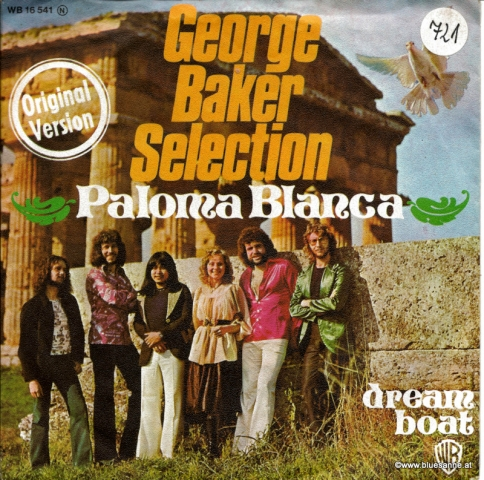 George Baker Selection ‎– Paloma Blanca 1975 Single
