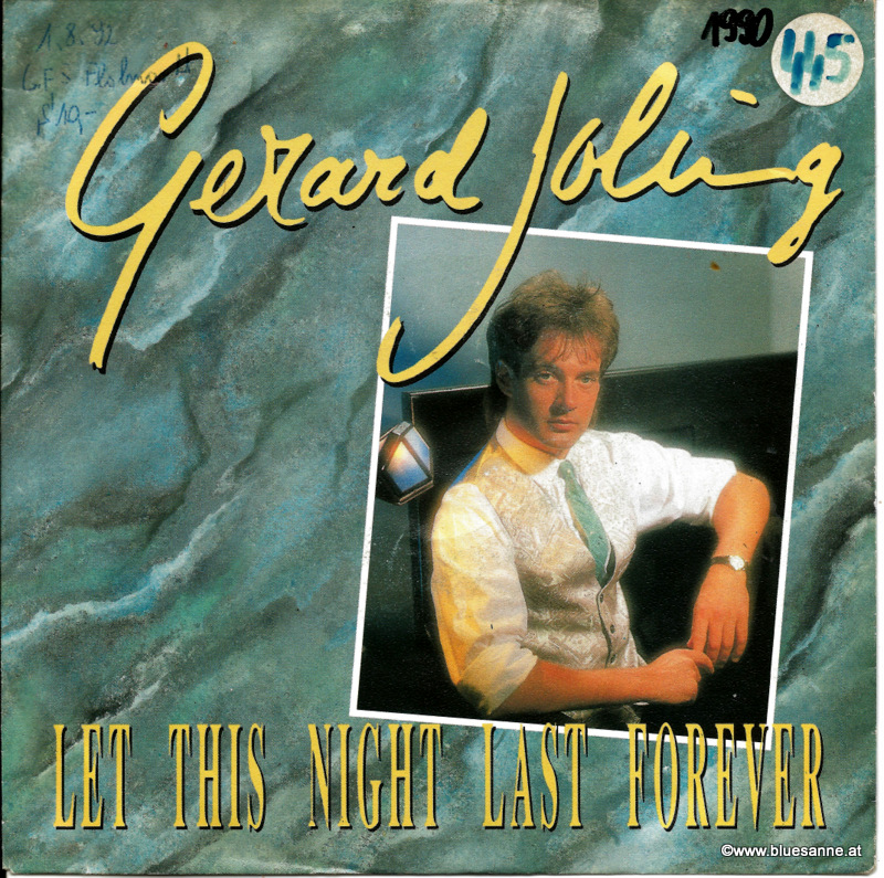 Gerard Joling ‎– Let This Night Last Forever 1990