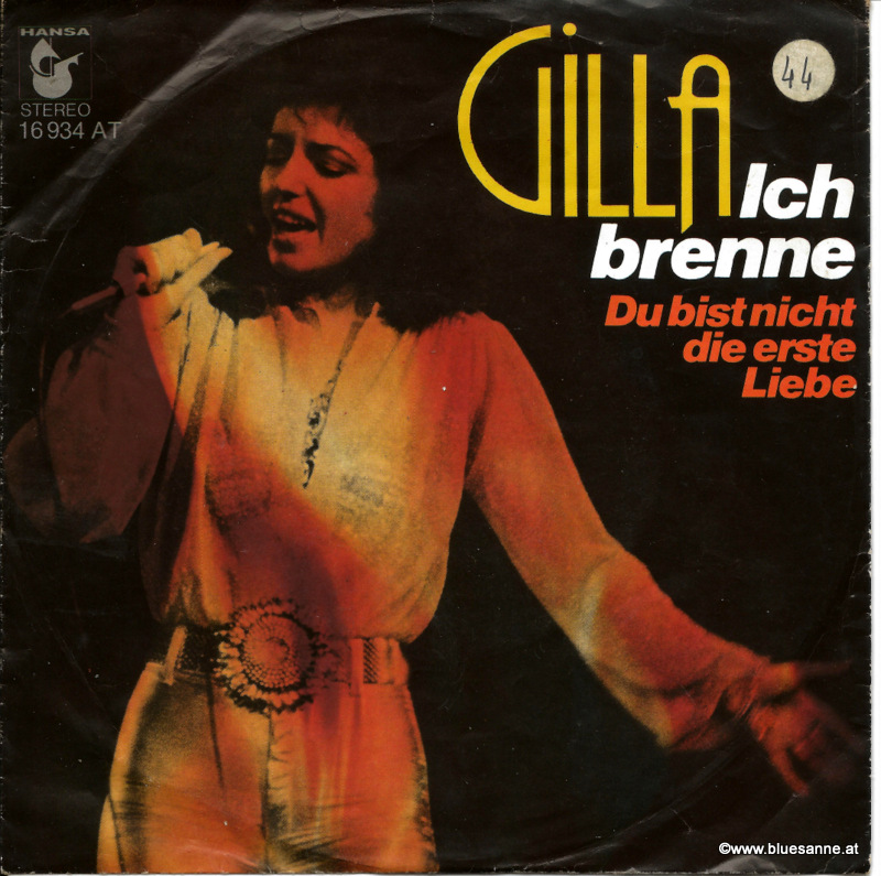 Gilla Ich brenne 1976 Single