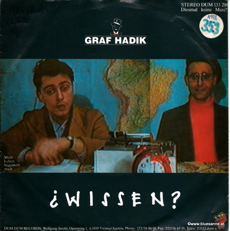 Graf Hadik ‎– Wissen 1988 Single