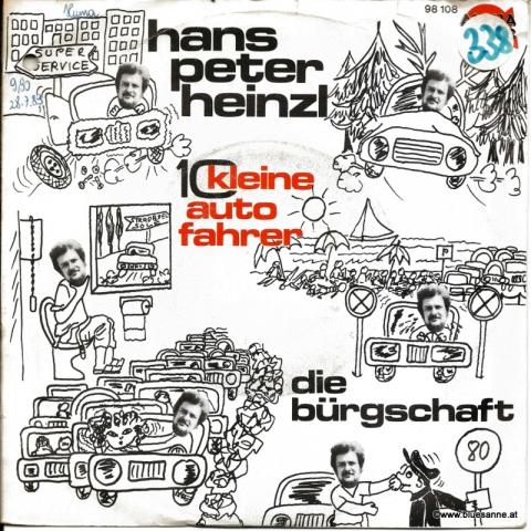 Hans Peter Heinzl 10 kleine Autofahrer Single
