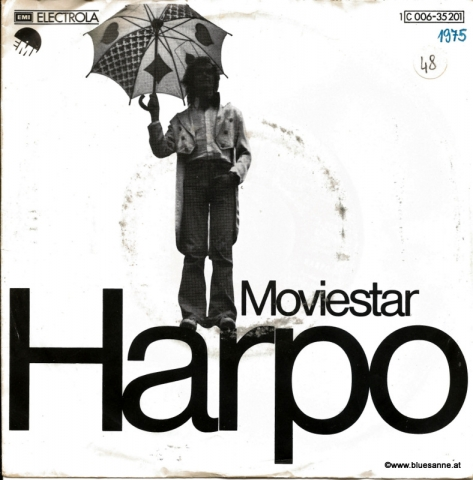 Harpo ‎– Moviestar 1975 Single
