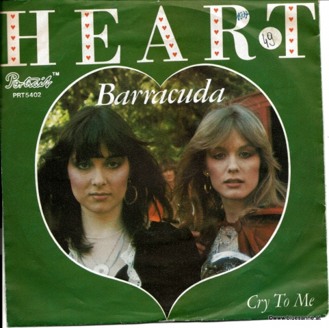 Heart ‎– Barracuda 1977 Single