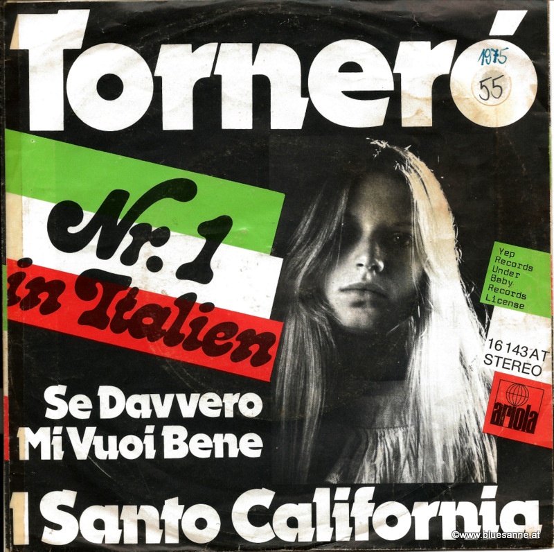 I santo California Tornero 1975 Single
