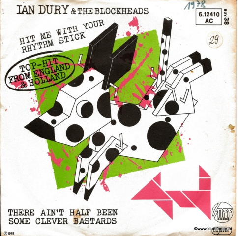 Ian Dury & The Blockheads ‎– Hit Me With Your Rhythm Stick 1979