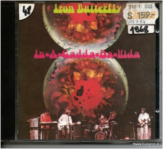 Iron Butterfly In A Gadda Da Vida CD