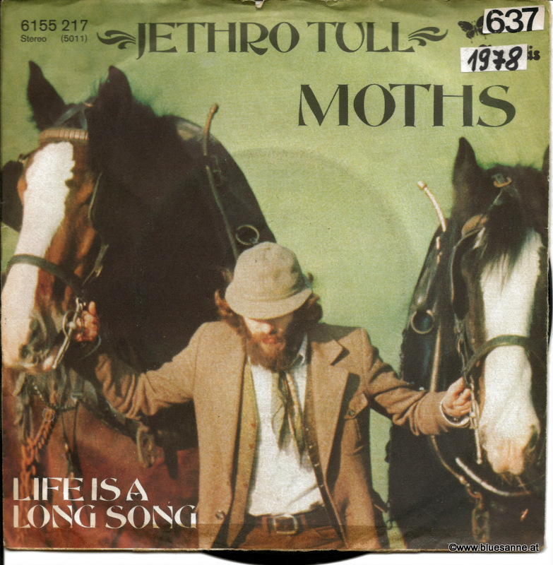 Jethro Tull ‎– Moths 1978 Single