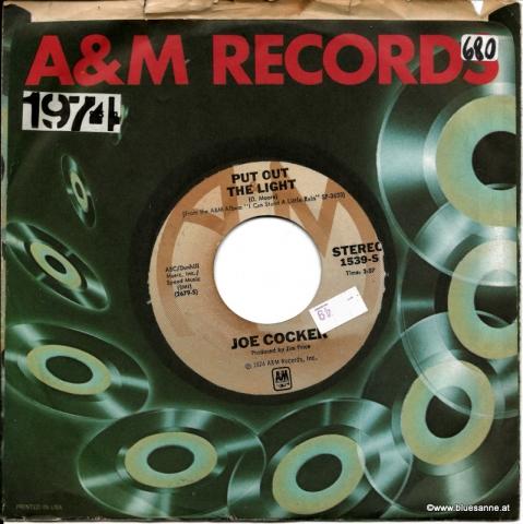 Joe Cocker – Put Out The Light If I Love You 1974 Single