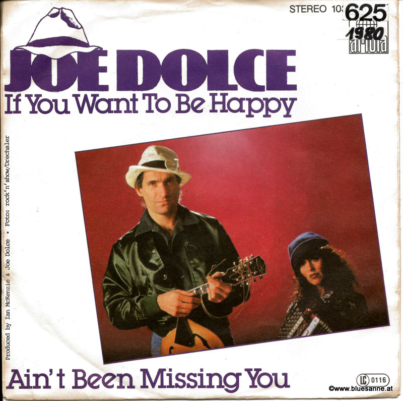 Joe Dolce ‎– If You Want To Be Happy 1981 Single