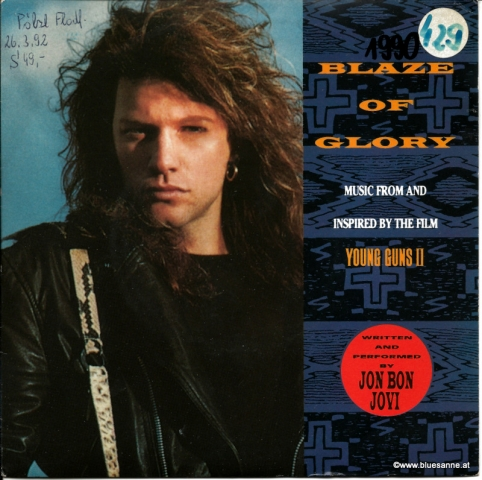 Jon Bon Jovi ‎– Blaze Of Glory 1990 Single
