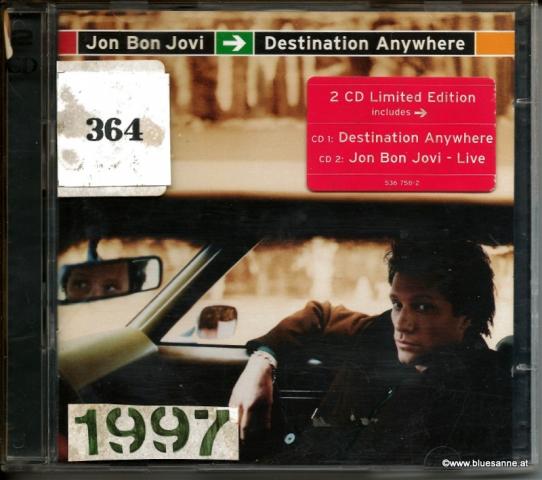 Jon Bon Jovi Destination Anywhere 1997 Doppel-CD