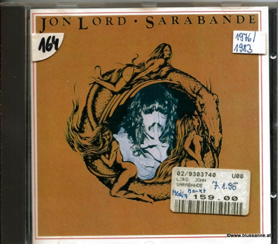 Jon Lord – Sarabande 1976 CD