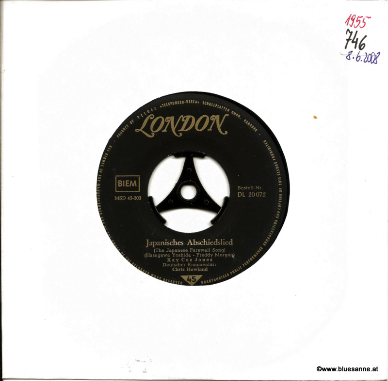Kay Cee Jones – Japanisches Abschiedslied 1957