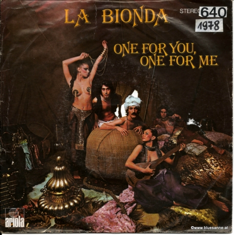 La Bionda ‎– One For You, One For Me 1978