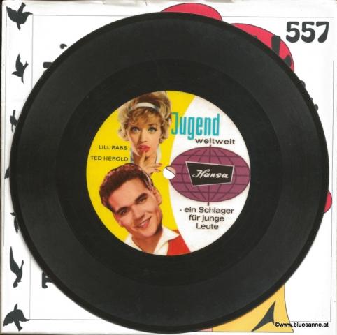 Lill Babs+Ted Herold – Tschau, Tschau Auf Wiedersehn 1962 Single-Folie