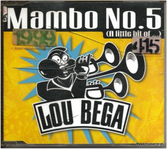 Lou Bega Mambo No.5 1999 CD-Single
