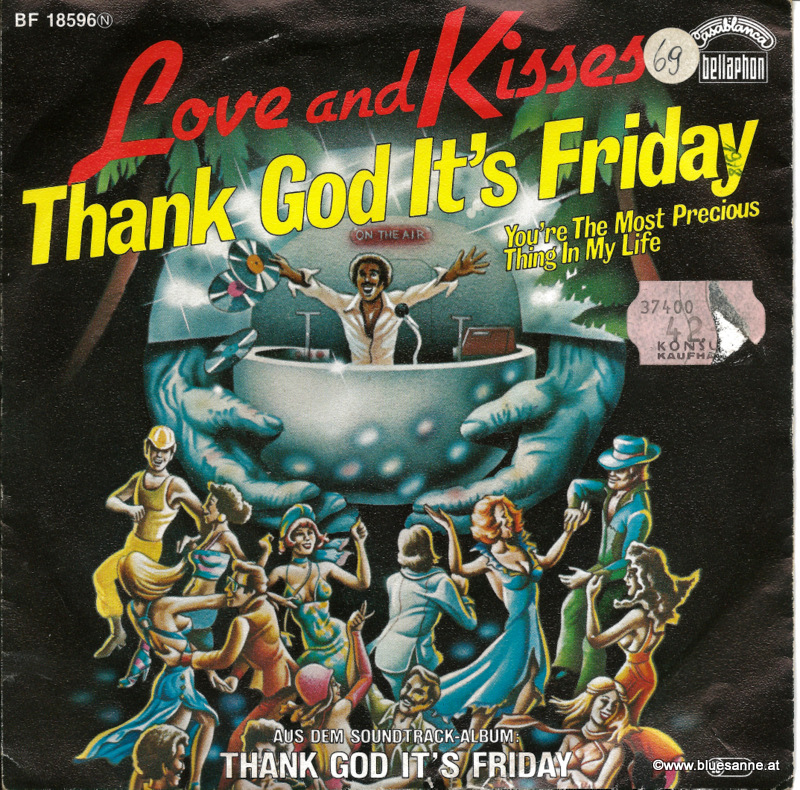 Love And Kisses ‎– Thank God Its Friday 1978 Single