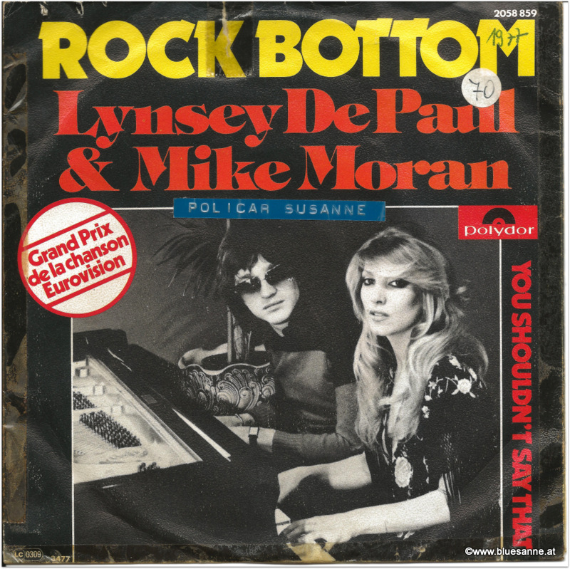 Lynsey DePaul + Mike Moran Rock Bottom 1977 Single