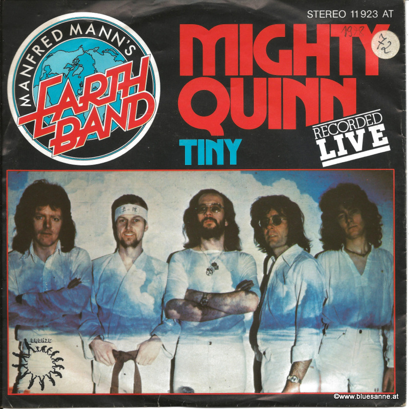 Manfred Mann;s Earth Band ‎– Mighty Quinn 1978 Single