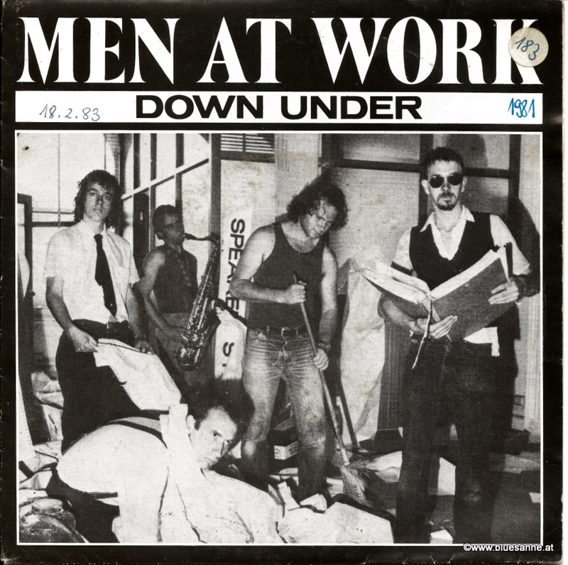 Men at Work Down under 1981 Single