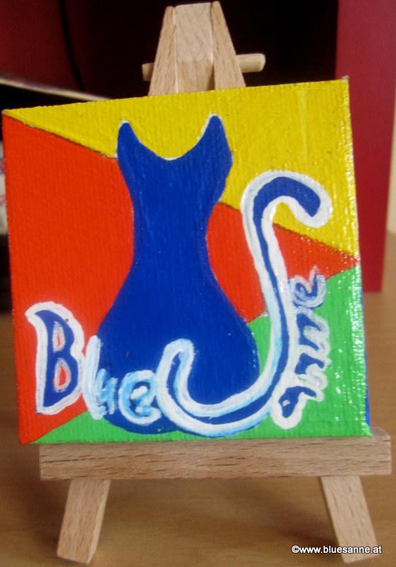 Bluesanne-Mini mit Logo