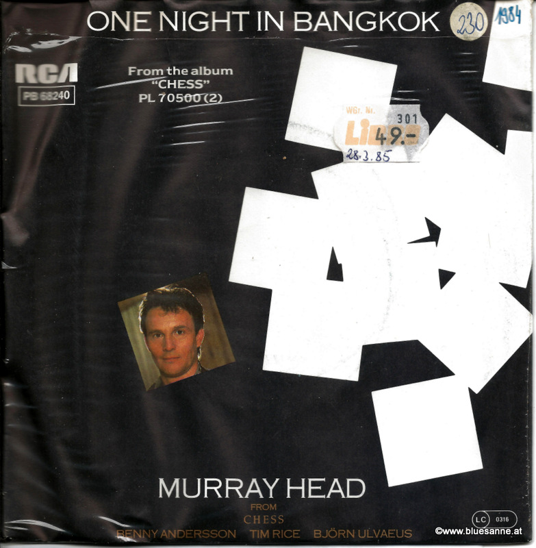 Murray Head One night in Bangkok 1984 Single