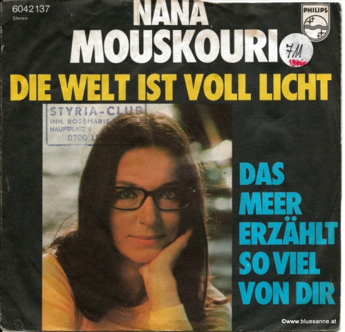 Nana Mouskouri – Die Welt Ist voll Licht 1976 Single