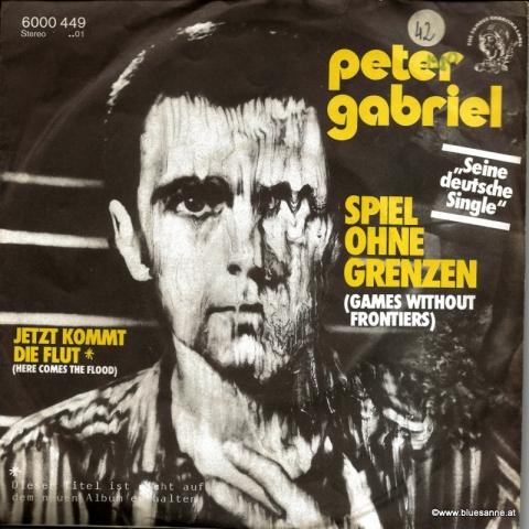 Peter Gabriel Spiel ohne Grenzen 1980 Single