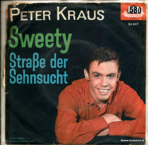 Peter Kraus ‎– Sweety  1962 Single