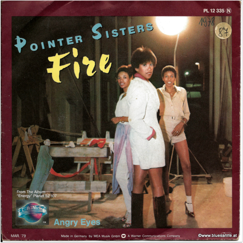 Pointer Sisters Fire 1978 Single