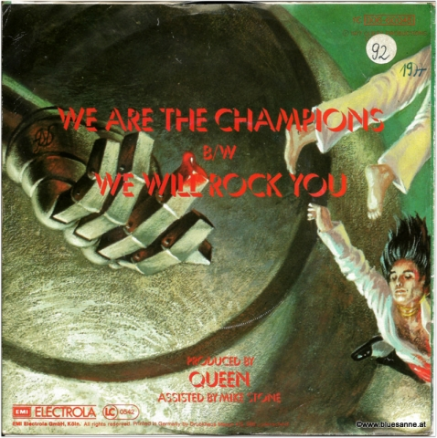 Queen We are the Champions 1977 Single